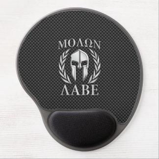 Molon Labe Chrome Style Spartan Armor Carbon Fiber Gel Mouse Pad