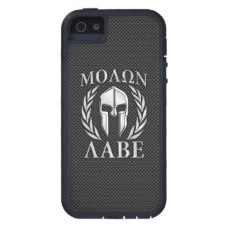 Molon Labe Chrome Style Spartan Armor Carbon Fiber iPhone SE/5/5s Case