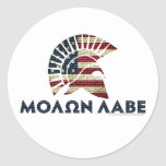 Molon Labe! Classic Round Sticker