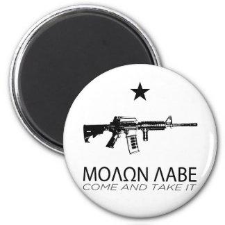 Molon Labe - Come And Take It 2 Inch Round Magnet
