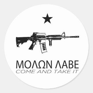 Molon Labe - Come And Take It Classic Round Sticker