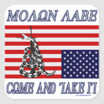 Molon Labe - Come and Take Square Sticker