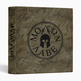 Molon Labe, Come and Take Them 3 Ring Binder