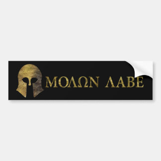 Molon Labe, Come and Take Them (camo version) Bumper Sticker