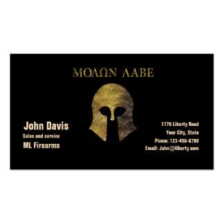 Molon Labe, Come and Take Them (camo version) Business Card