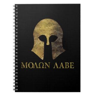 Molon Labe, Come and Take Them (camo version) Spiral Notebook
