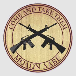 Molon Labe (Come and Take Them) Classic Round Sticker