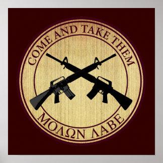 Molon Labe (Come and Take Them) Poster