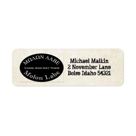 Molon Labe Come and Take Them Quote Label