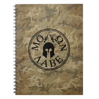 Molon Labe, Come and Take Them Spiral Notebook