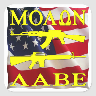 Molon Labe Come And Take Them Square Sticker