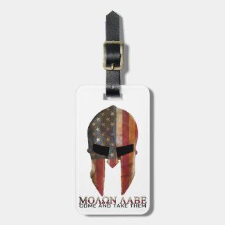 Molon Labe - Come and Take Them USA Spartan Bag Tag