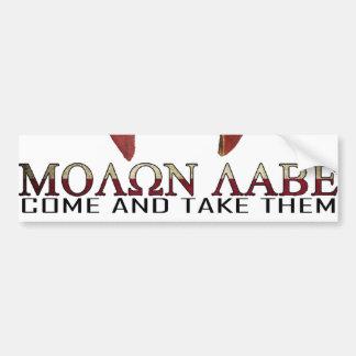 Molon Labe - Come and Take Them USA Spartan Bumper Sticker