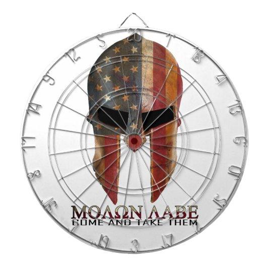 Molon Labe - Come and Take Them USA Spartan Dartboard With Darts