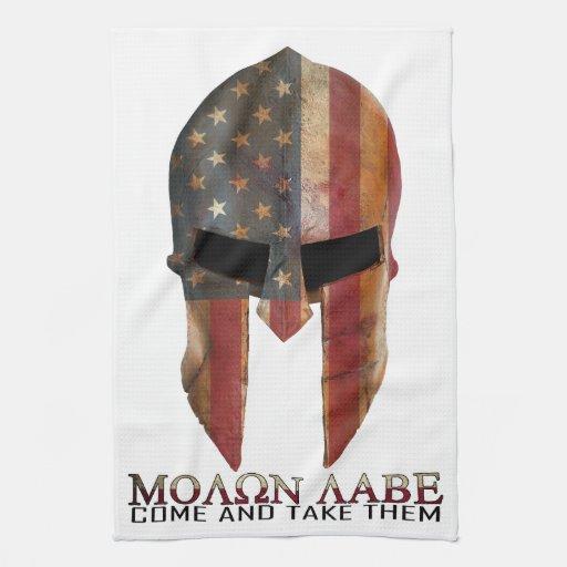 Molon Labe Come And Take Them Usa Spartan Hand Towel