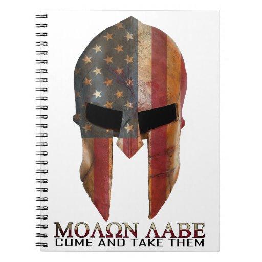 Molon Labe - Come and Take Them USA Spartan Spiral Note Book