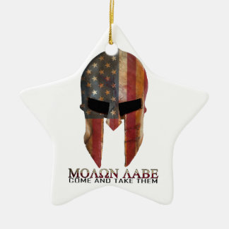 Molon Labe - Come and Take Them USA Spartan Christmas Tree Ornaments