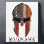"Molon Labe - Come and Take Them USA Spartan Plaque<br><div class=""desc"">Molon Labe - Come and Take Them USA Spartan</div>"