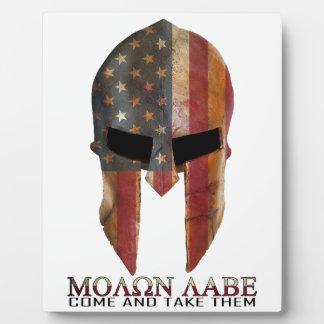 Molon Labe - Come and Take Them USA Spartan Plaque