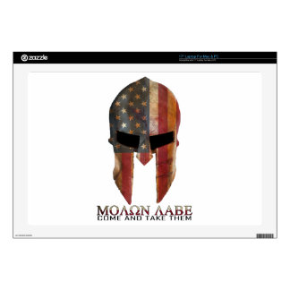 """Molon Labe - Come and Take Them USA Spartan 17"""" Laptop Decals"""