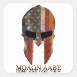 Molon Labe - Come and Take Them USA Spartan Square Sticker
