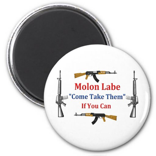 Molon Labe: Come Take Them: If You Can Fridge Magnets