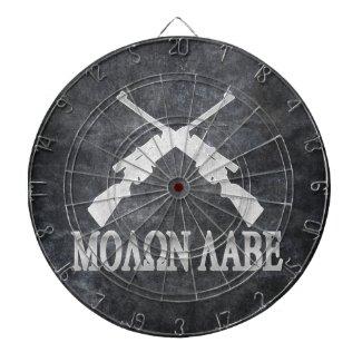 Molon Labe Crossed Rifles 2nd Amendment Dartboard With Darts