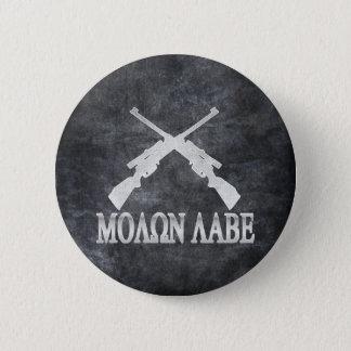Molon Labe Crossed Rifles 2nd Amendment Gun Rights Button