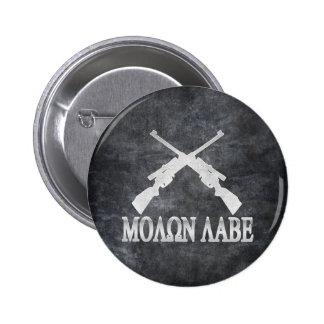 Molon Labe Crossed Rifles 2nd Amendment Gun Rights 2 Inch Round Button