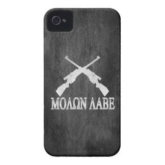 Molon Labe Crossed Rifles 2nd Amendment iPhone 4 Case