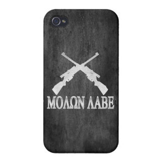 Molon Labe Crossed Rifles 2nd Amendment iPhone 4 Covers