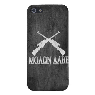 Molon Labe Crossed Rifles 2nd Amendment iPhone 5 Case