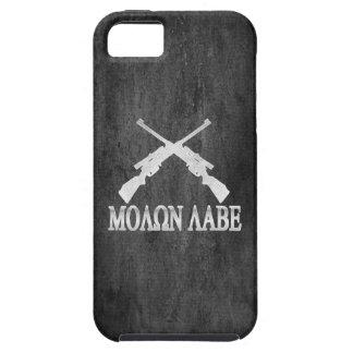 Molon Labe Crossed Rifles 2nd Amendment iPhone 5 Cases