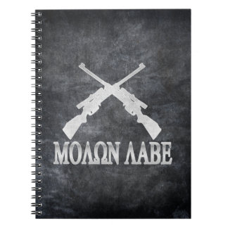 Molon Labe Crossed Rifles 2nd Amendment Notebook