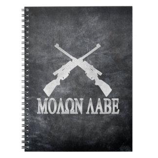 Molon Labe Crossed Rifles 2nd Amendment Notebook