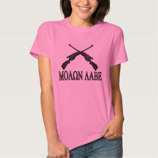 Molon Labe Crossed Rifles 2nd Amendment T-Shirt