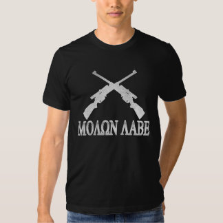 Molon Labe Crossed Rifles 2nd Amendment T Shirt
