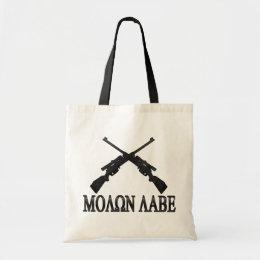 Molon Labe Crossed Rifles 2nd Amendment Tote Bag