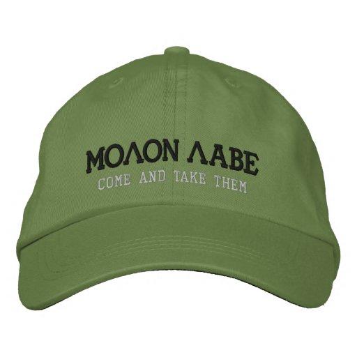 54c4b30defa MOLON LABE EMBROIDERED BASEBALL HAT