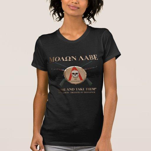 Molon Labe - escudo espartano Camisetas