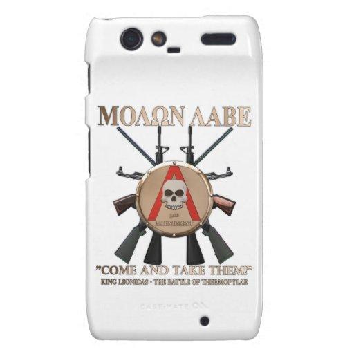 Molon Labe - escudo espartano Droid RAZR Carcasa