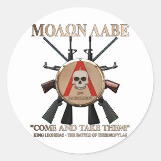 Molon Labe - escudo espartano Etiquetas