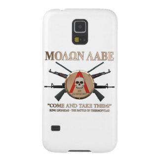 Molon Labe - escudo espartano Fundas Para Galaxy S5