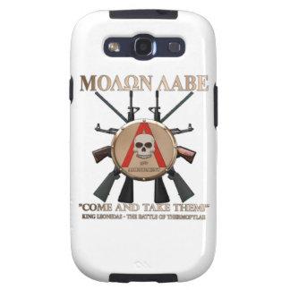 Molon Labe - escudo espartano Samsung Galaxy S3 Protectores