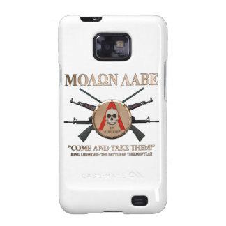 Molon Labe - escudo espartano Samsung Galaxy SII Fundas