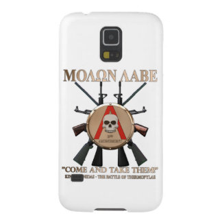 Molon Labe - escudo espartano Carcasas De Galaxy S5