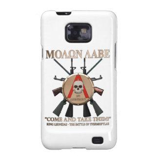 Molon Labe - escudo espartano Galaxy SII Carcasas