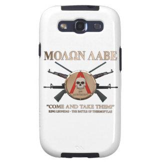 Molon Labe - escudo espartano Galaxy S3 Carcasa