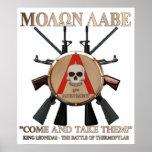 Molon Labe - escudo espartano Impresiones