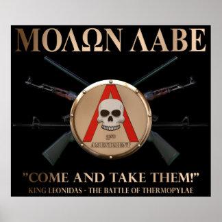 Molon Labe - escudo espartano Posters